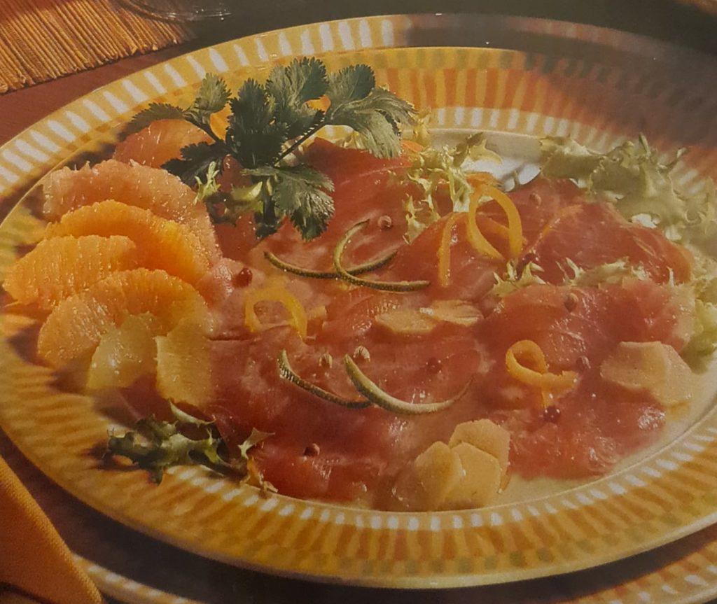 Carpaccio de saumon aux agrumes