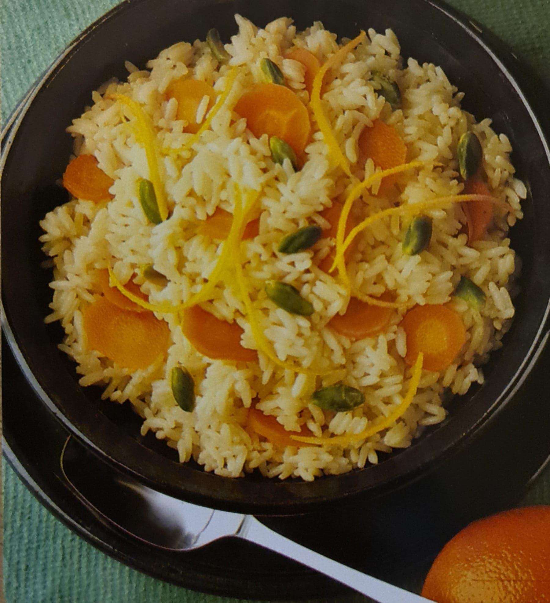 Riz aux carottes et aux zestes d'orange
