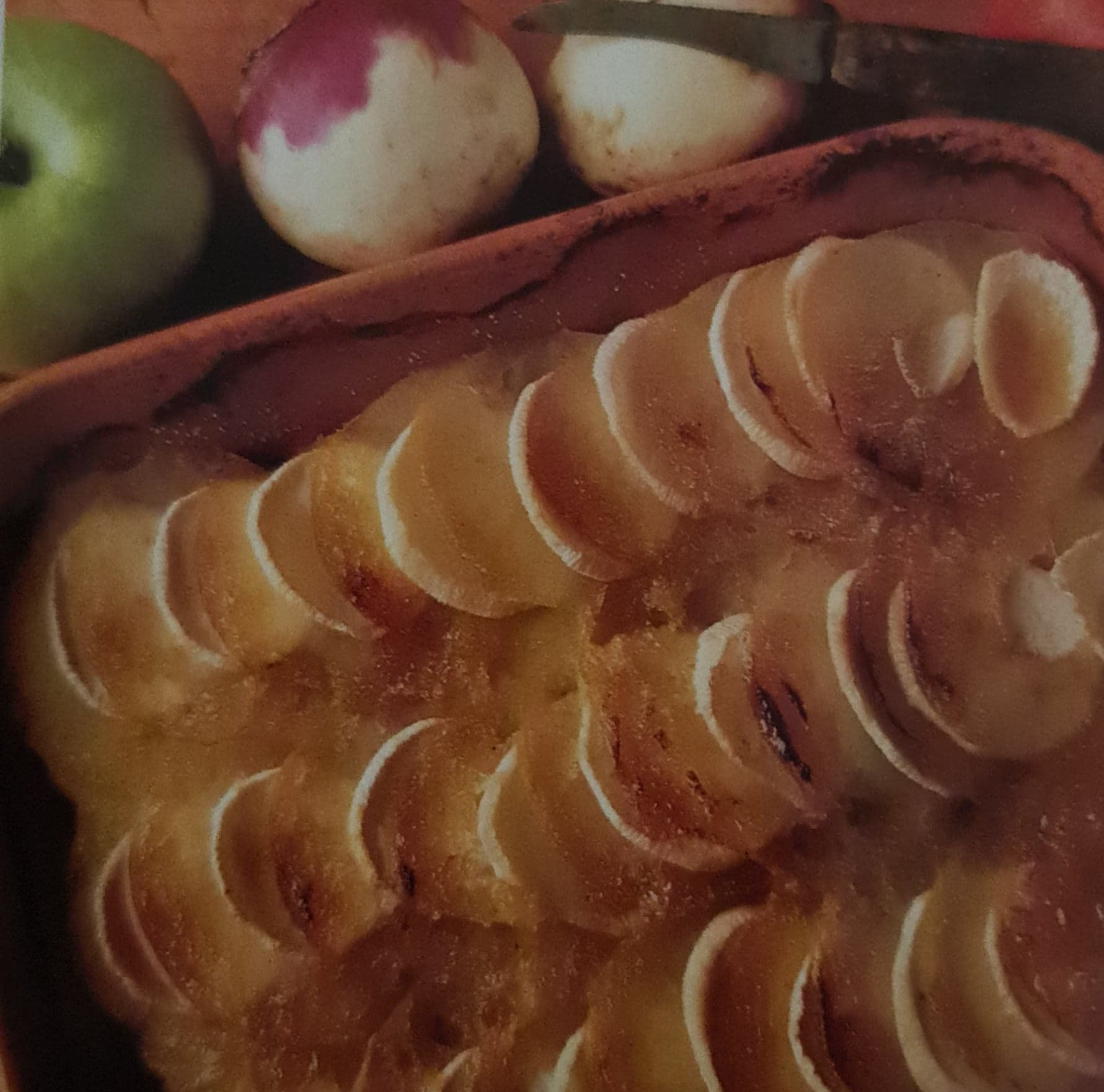Gratin de pommes fruits et navets