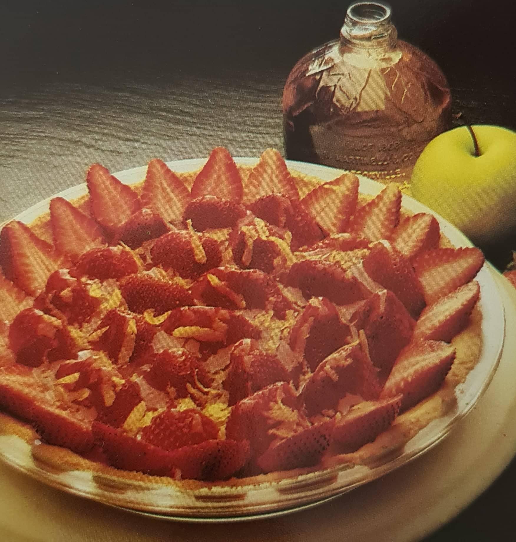 Tarte aux fraises sauce pommes